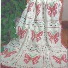 Butterfly Afghan Pattern #PA368 Maggie's Crochet