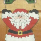 ** Large Plastic Canvas Door Greeter Santa HO HO HO