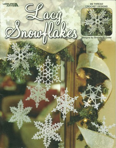 35 Crocheted Lacy Snowflakes in Crochet Thread