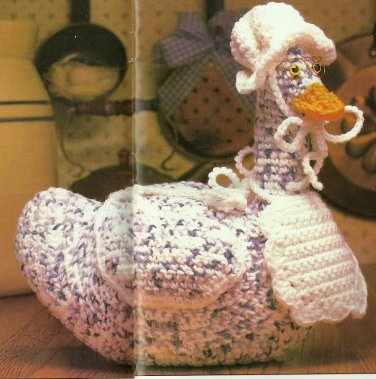 Crochet Teddy Bear Afghan / Gingham Goose / Vegetable Potholders