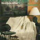 Annie's Loop n Lace Mile-A-Minute Cables Afghan Pattern
