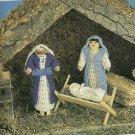"Crochet Clothpin Nativity - 15"" Treetop Angel - Winter Rose Casserole Coaster-"