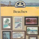 OOP HTF ** BEACH ~ DMC Cross Stitch * 9 * BEACHES Jeanette Crews designs