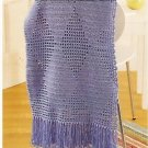 Crochet Filet Afghans - Butterfly - Lilac Mosaic - ZigZag