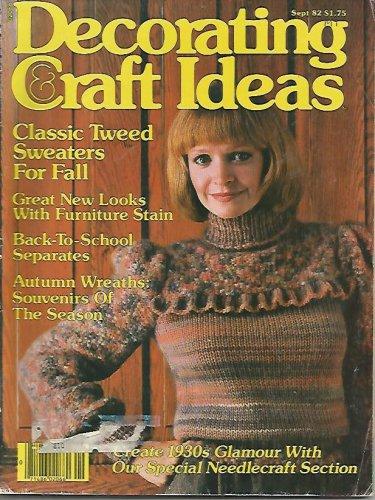 Decorating Craft Ideas - 1982 - Art Deco Needlepoint - Wreath Making - Knitting
