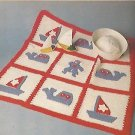 Sunburst Afghan Pattern - Butterfly Pillow - Baby Sea Quilt Fish Potholder and more