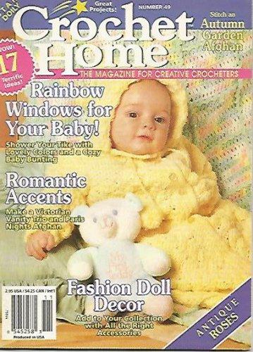Crochet Home Magazine #49 - Baby Bunting - Paris Nights Afghan - Stemware Coaster