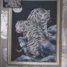 *Tiger Cross Stitch  Kit MOONLIT TIGERS