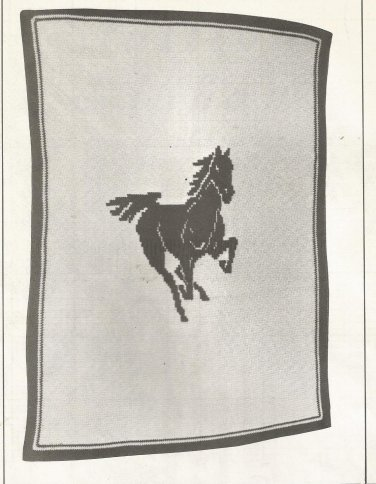 Afghan Patterns from 1980 - Stallion - Navaho Diamond - Scottie - Amish