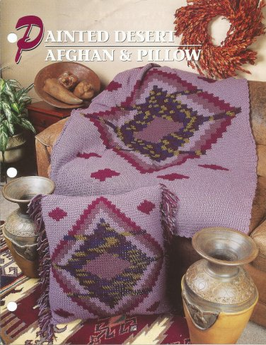 Annie's Crochet Quilt & Afghan Club - Painted Desert Afghan and Pillow