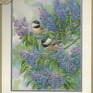** Cross Stitch KIT - CHICKADEES & LILACS  Gold Collection 2011