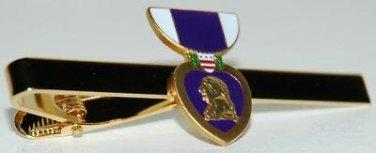 United States Mini Purple Heart Medal Tie Clip