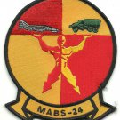 USMC MABS-24 Marine Air Base Squadron 24 Patch