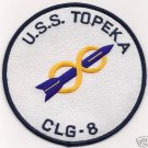US Navy CLG-8 USS Topeka Patch