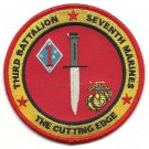 USMC 3rd Battalion Seventh Marines The cutting Edge Patch