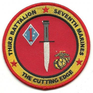 USMC 3rd Battalion Seventh Marines The cutting Edge Patch
