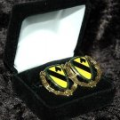US Army 1st Cavalry Division Cuff Link,Tie Clip Money Clip and Dog Tag Set