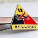 US Army 12th Armored Division Hellcat Tie Clip
