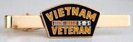 Vietnam Veteran Military Tie Clip