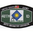 US Army 40th Infantry Division Military Occupational Specialty MOS 40th ID Patch