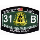 US Army 3rd Military Police Group Military Occupational Specialty MOS 31B Patch