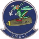 USMC VMU 4 Marine Unmanned Aerial Vehicle Squadron Patch