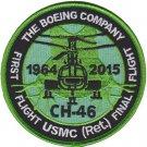 USMC CH-46 First Flight USMC RET Final Flight Patch