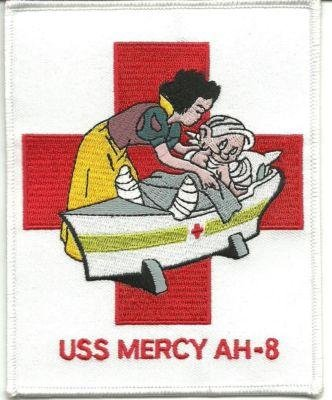 US Navy USS Mercy AH-8 Hospital Ship Patch