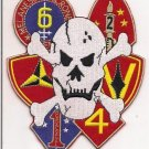 "USMC 1st 2nd 3rd 4th 5th 6th Marine Divisions 6"" Back Patch"