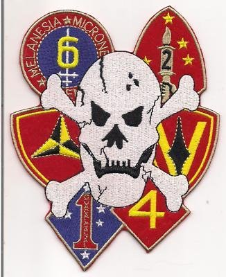 """USMC 1st 2nd 3rd 4th 5th 6th Marine Divisions 6"""" Back Patch"""
