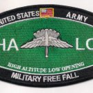 US Army MOS HALO Military Free Fall Patch