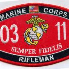 USMC Rifleman MOS 0311 Patch