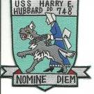 US Navy USS Harry E. Hubbard DD - 748 Nomine Diem Patch