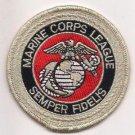USMC United States Marine Corps League Samper Fidelis Patch