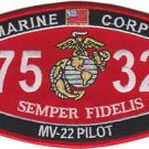 USMC MV-22 Pilot 7532 MOS Patch