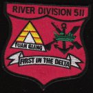 US Navy RIVDIV-511 River Division Vietnam First In The Delta Patch