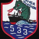 US Navy RIVDIV-533 River Division Vietnam Military Patch
