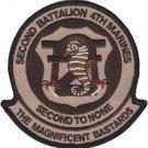 USMC 2nd Battalion 4th Marines Desert Patch