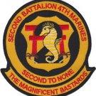 USMC 2nd Battalion 4th Marines Color Patch