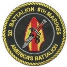 USMC 2 nd Battalion 8th Marines Patch