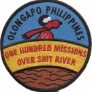 USMC Olongapo Philippines One Hundred Missions Over Sh t River Military Patch