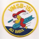 USMC WWII Marine Observation Squadron 151 (VMSB-151) ALI BABA Patch