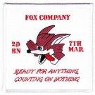 USMC Fox Company Second Battalion 7th Marine Patch
