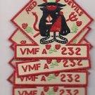 USMC VMFA-232 Marine Fighter Attack Squadron Patch 5 for 1 Price