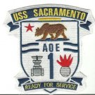 US Navy USS Sacramento AOE 1 Ready for Service Patch