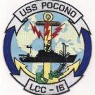 US Navy USS POCONO (LCC 16) (ex-AGC 16) COMMAND SHIP Patch