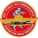 USMC 3rd Force Reconnaissance Patch OIF Operation Iraqi Freedom