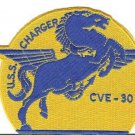 US Navy USS Charger CVE - 30 WWII Escort Carrier Patch