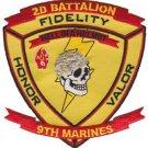 USMC 2nd Battalion 9th Marine Patch