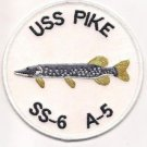 US Navy SS-6 USS Pike Patch